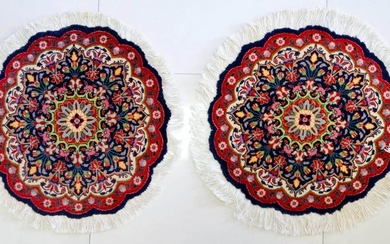 Magnificent Pair Of Tabriz Rugs