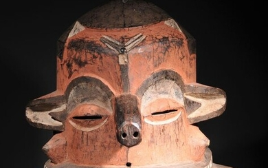 "Mask (1) - Wood - Masque ""Giphogo"" Eastern - - Pende - Congo DRC"