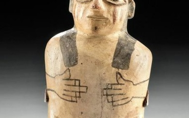Nazca-Huari Polychrome Standing Female Idol