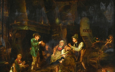 Painting, Attributed to David Teniers the Younger - David Teniers the Younger