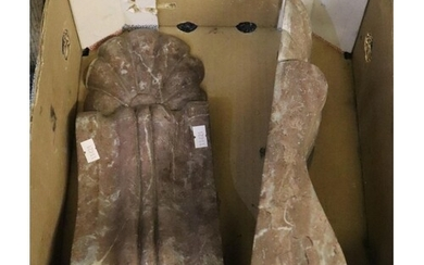 Pair of Classical style, rouge marble, corbels or brackets. ...