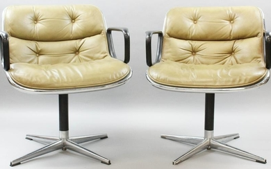 Pair of Knoll arm chairs