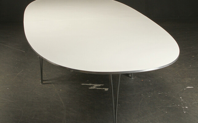 Piet Hein & Bruno Mathsson. Large 'Super Elipse' dining / conference table
