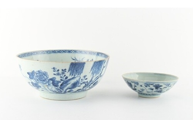 Property of a lady - an 18th century Chinese blue & white bo...