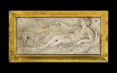 Rare 18th Century English Carved White Marble Tableau Plaque...