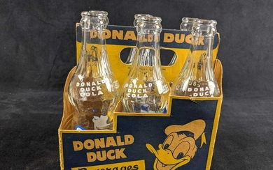 Rare Disney VIntage Donald Duck Cola Six Pack With