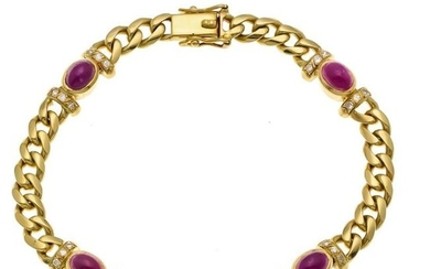 Ruby-diamond bracelet GG