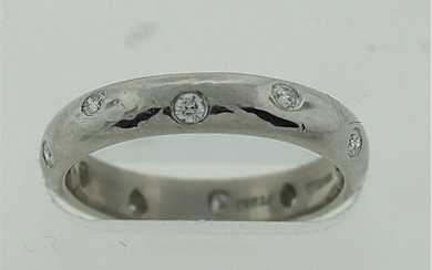 TIFFANY & CO. T&CO DIAMOND PLATINUM PT 950 BAND 0.20CTS