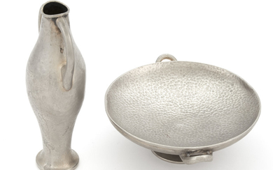Two Greek Silver Table Articles