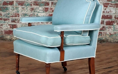 UPHOLSTERED OPEN ARM SITTING ROOM CHAIR