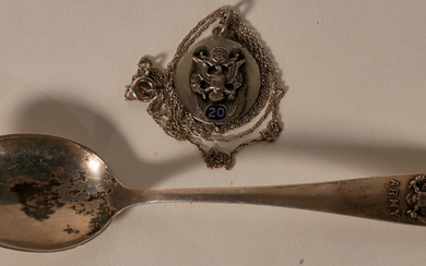 USAAF Charms, Necklace, and & Silver Spoon #109190