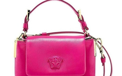Versace Palazzo Small Pink Leather Top Handle Shoulder