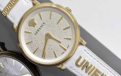Versace - White IP Gold Manifesto Unified extra strap Swiss Made- VBP100017 - Women - 2011-present
