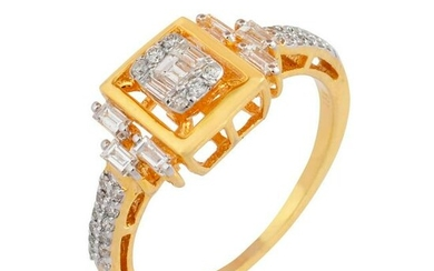0.5 TCW SI/HI Baguette Diamond Ring 18kt yellow gold
