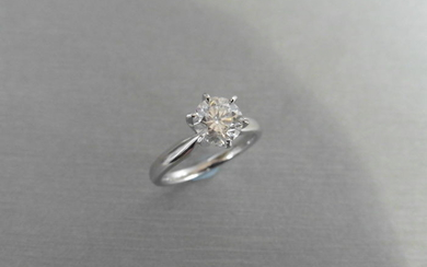 1.16ct Diamond solitaire ring with a brilliant cut...