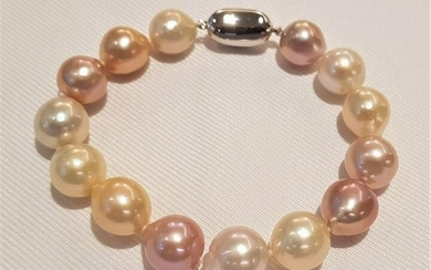 11x13mm Multi Edison Pearls - Bracelet