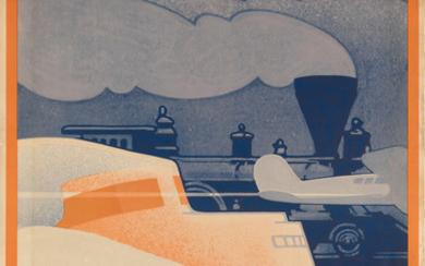 LESLIE RAGAN (1897 1972). THE TRANSPORTATION PARADE OF THE YEARS / GREAT LAKES EXPOSITION. 1936. 41x27 inches, 104x68 cm.
