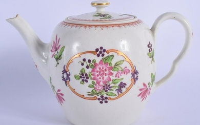 18th c. Worcester fine teapot and cover of Companie des