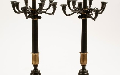 19th Century French Empire Dore and Patinated Bronze