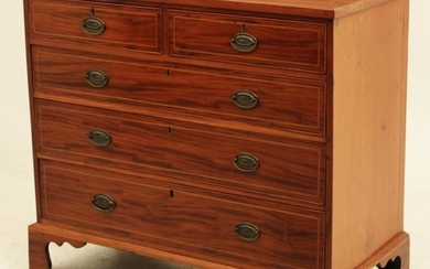 19th c Georgian Mahogany chest