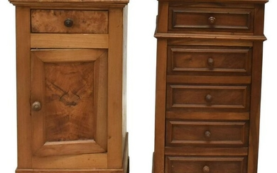 (2) FRENCH LOUIS PHILIPPE PERIOD NIGHTSTANDS