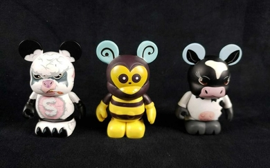 3 Vinyl Collectible Dunny Figurines A