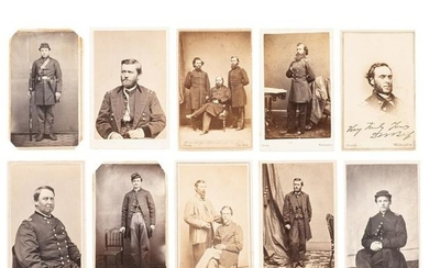 Civil War CDV Album Containing Portraits of Union