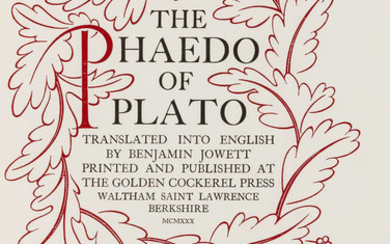 Plato. Phaedrus: A Dialogue, one of 90 copies on Arches, San Francisco, Greenwood Press, 1976 and another version (2)