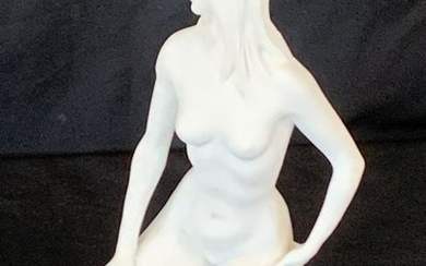 A. SANTINI SCULPTURE OF WOMAN IN THE NUDE SIGNED