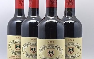 9 bouteilles CH. PAVIE-MACQUIN, 1° Grand…
