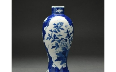 A BLUE AND WHITE VASE, CHINA