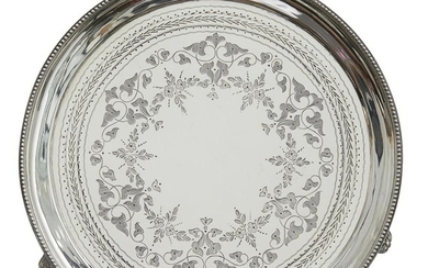 A GEORGE III STERLING SILVER SALVER