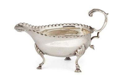 A George III small silver sauce boat,...
