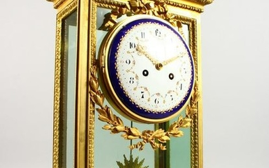 A LARGE 19TH CENTURY FRENCH FOUR GLASS CLOCK by RAINGO