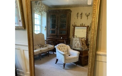 A LARGE 19TH CENTURY FRENCH GILTWOOD AND GESSO MIRROR Decora...