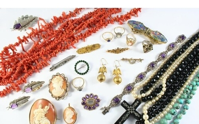 A LARGE QUANTITY OF JEWELLERY AND COSTUME JEWELLERY includin...