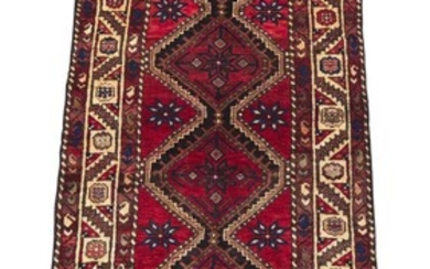 A SOLID & DURABLE TRIBAL PERSIAN BAKHTIAR HALL RUNNER. 100% WOOL. NATURAL DYES. EXTRA-WIDE TRIBAL RUNNER. HAND-KNOTTED TRIBAL WEAVE...