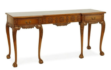 A Wood Console Table.