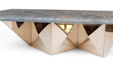 A ZIGZAG COFFEE TABLE, BY PIERRE GIRAUDON (B. 1923)