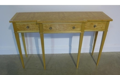 A birch breakfront side/hall table - 122cm wide x 77cm high ...