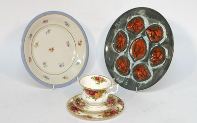 A half old country rose tea service,...
