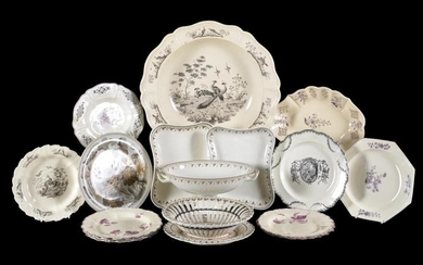 A selection of Wedgwood and related creamware