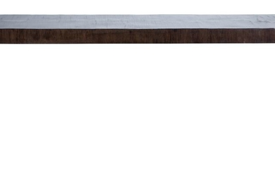 A wood console table. 20th Century design