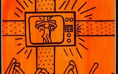 After Keith Haring Untitled Black Marker Drawing