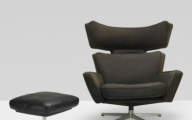 Arne Jacobsen, Ox lounge chair and ottoman