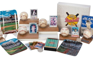 Assorted Signed Baseballs, Cards, and Memorabilia. Six