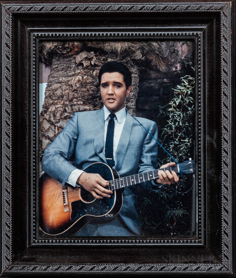 Autographed Photo of Elvis Presley