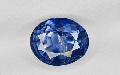 Blue Sapphire, 2.34ct, Mined in Kashmir, Certified by