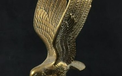 Brass Eagle and Globe on Pedestal