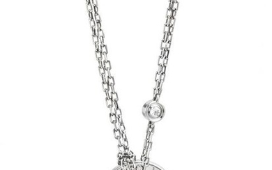 CARTIER, WHITE GOLD AND DIAMOND 'LOVE' NECKLACE